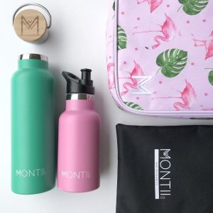 Drink bottle and insulated lunch bag